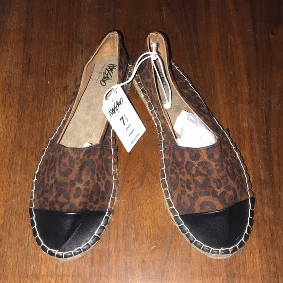 Mossimo Supply Co. Shoes - NEW Women's Leopard Espadrille Shoes 7.5